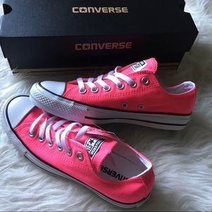 CONVERSE knockout pink low tops NIB